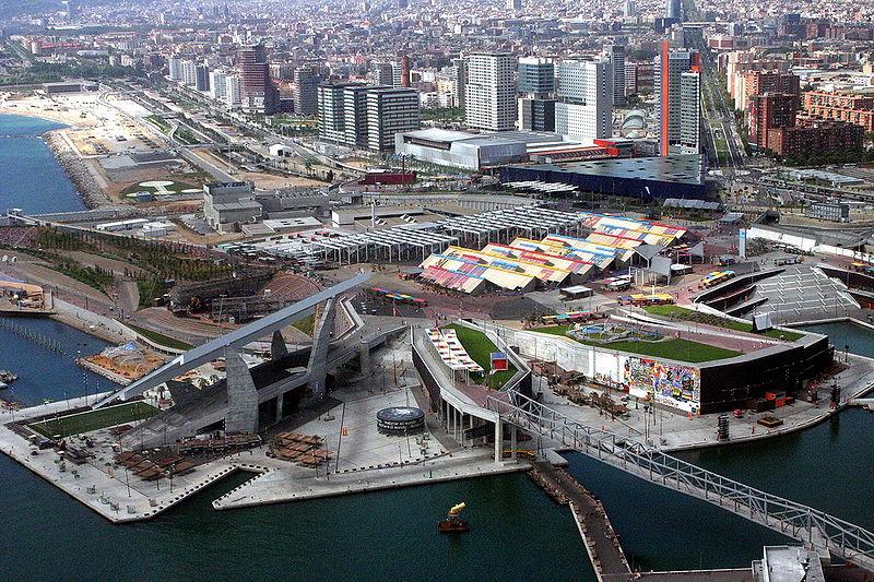 L'area di Barcellona rivoluzionata per il Forum del 2004